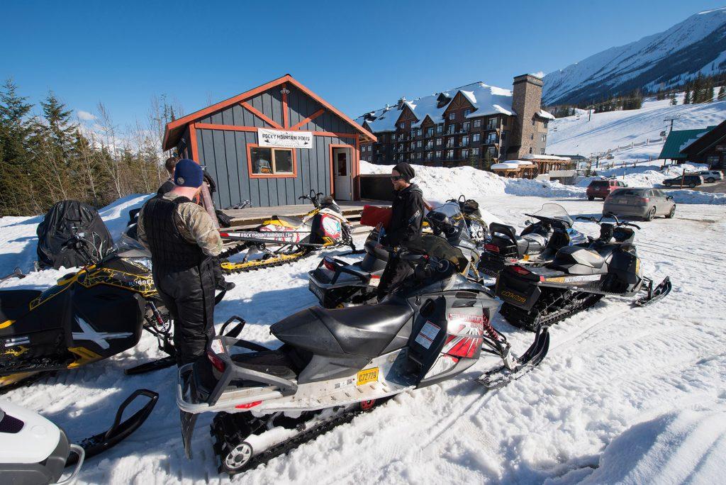 kicking horse snowmobile tours