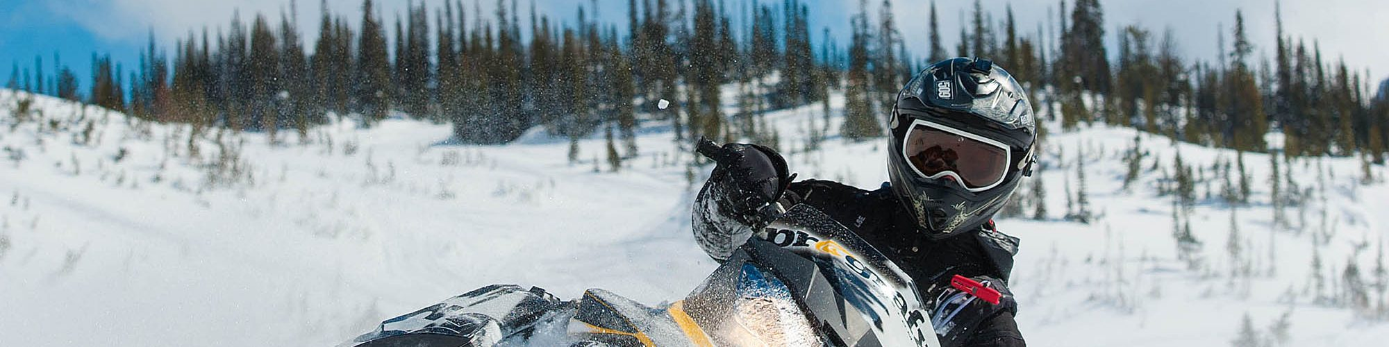 Kicking Horse Resort snowmobile tour for all levels of ability