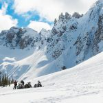 sledding panorama in golden bc